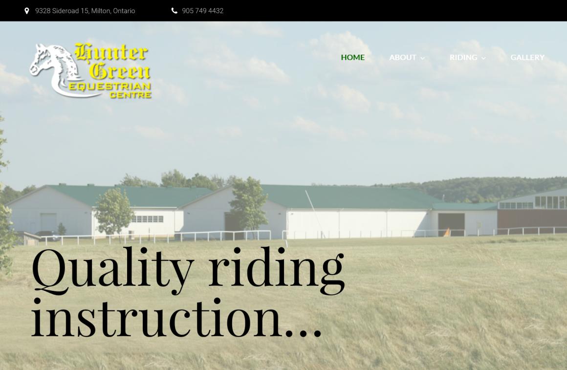 Hunter Green Equestrian Centre